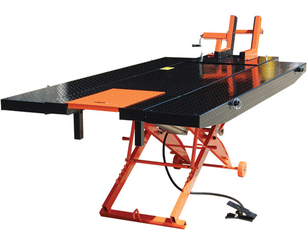 Air Motorcycle Lift Table : Titan lifts d xlt air motorcycle lift j p