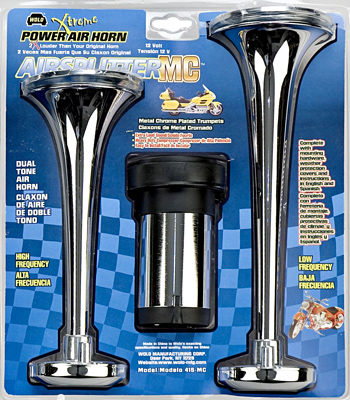 Wolo Airsplitter Metal Chrome Air Horn