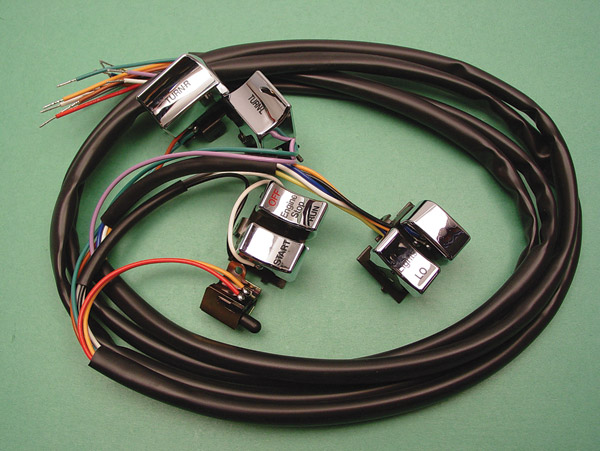V-Twin Manufacturing Handlebar Wiring Harness with Switches ... on columbia wiring harness, harley wiring diagram for dummies, piaggio wiring harness, harley davidson stereo wiring diagram, harley wiring harness kits, harley sportster wiring harness, harley davidson stator wiring, cobra wiring harness, mercury wiring harness, harley davidson wiring connectors, harley davidson wiring color code, harley davidson trailer wiring diagram, harley davidson speaker wiring, harley softail wiring harness, motorcycle wiring harness, harley wiring harness diagram, royal enfield wiring harness, harley chopper wiring harness, mitsubishi wiring harness, harley shovelhead wiring harness,