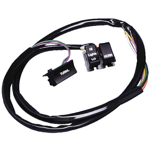 handlebar wiring harness with switches 380 455 j p cycles