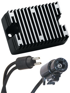 Motorcycle Electric Suppliers Replacement Voltage Regulator, Black