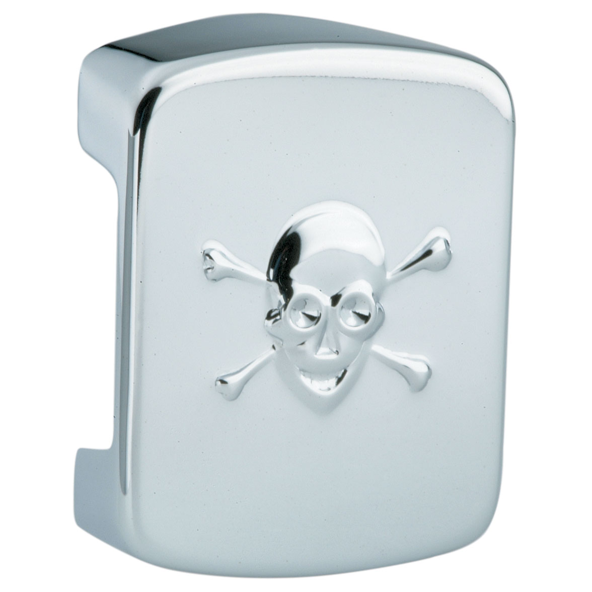 Chrome Coil Cover with Skull
