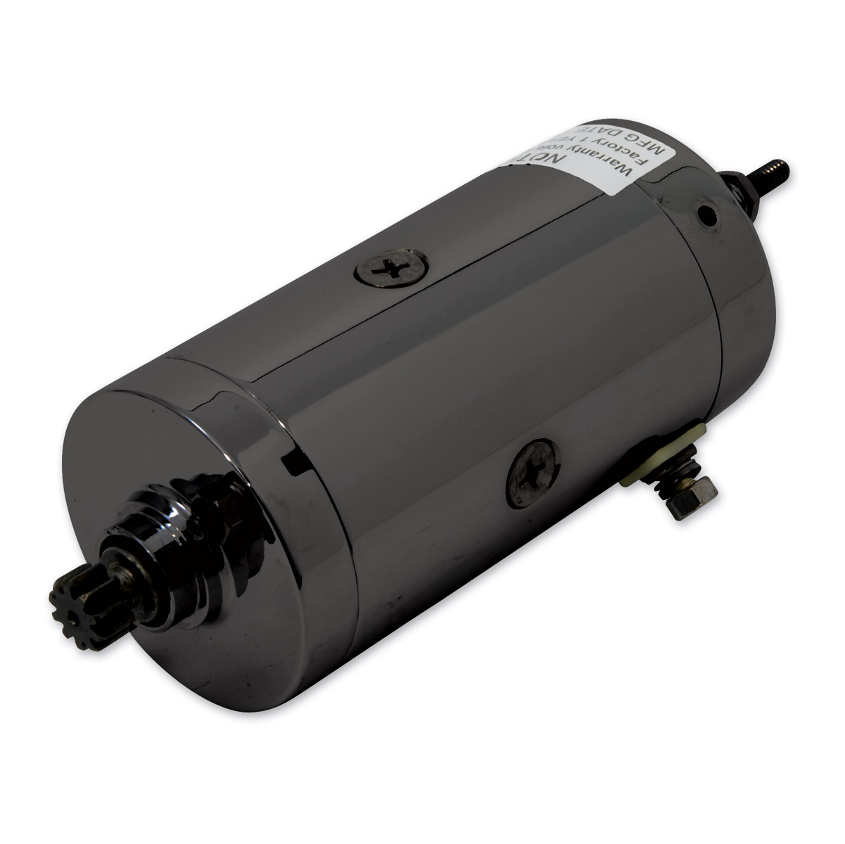 J&P Cycles® Prestolite Black Starter Motor Assembly