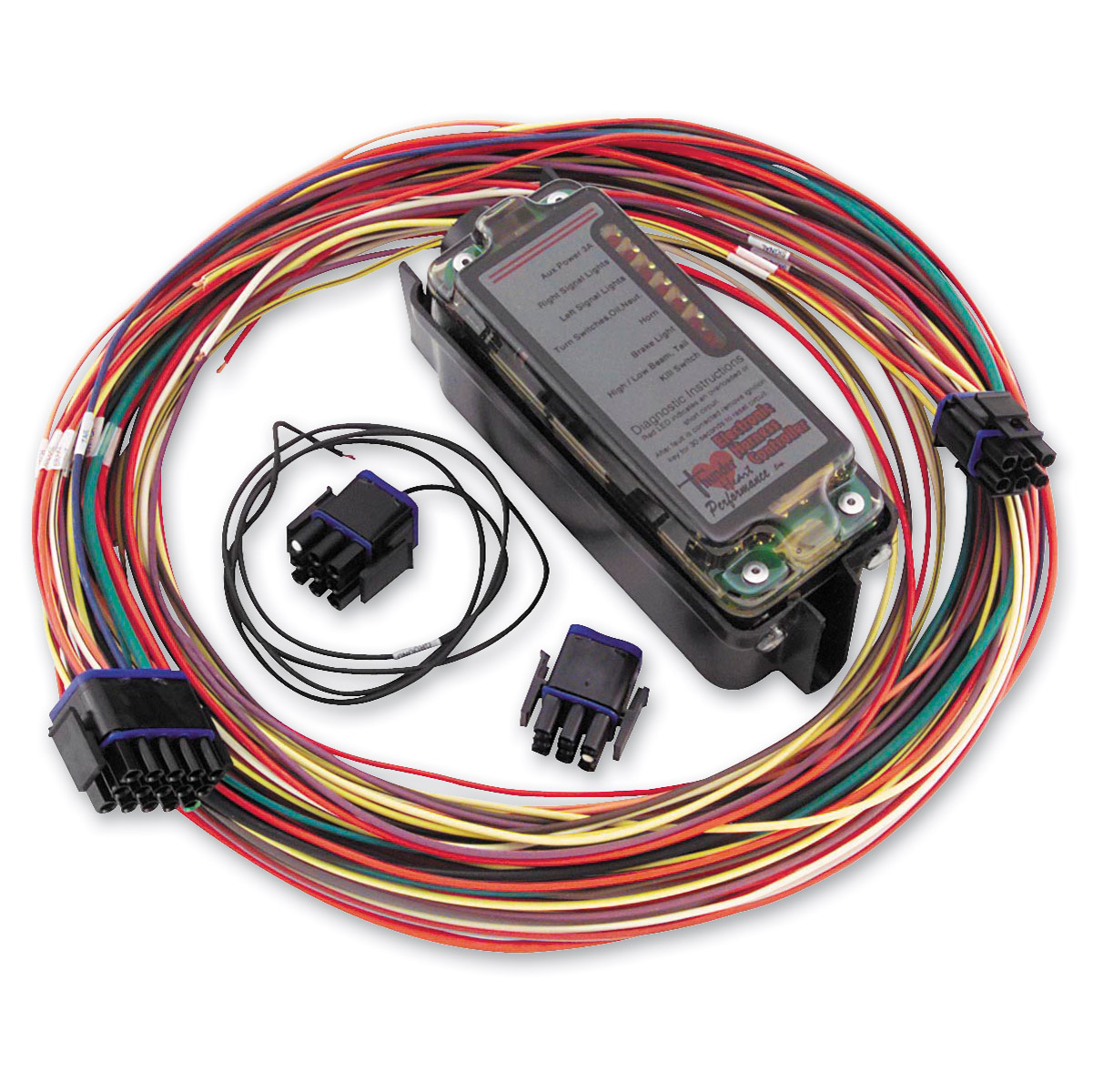 motorcycle wiring harness kits j p cycles thunder heart performance complete electronic harness controller