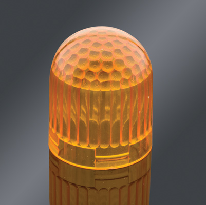 Replacement Lens ONLY, amber, for (P/N 3300027) capsule marker light