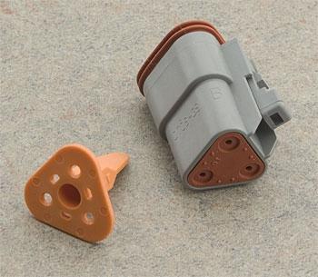 NAMZ Custom Cycle Deutsch 3-Pin Gray Plug  Wiring Connector