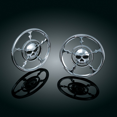 Kuryakyn Zombie Speaker Grills for FLHT and FLHX