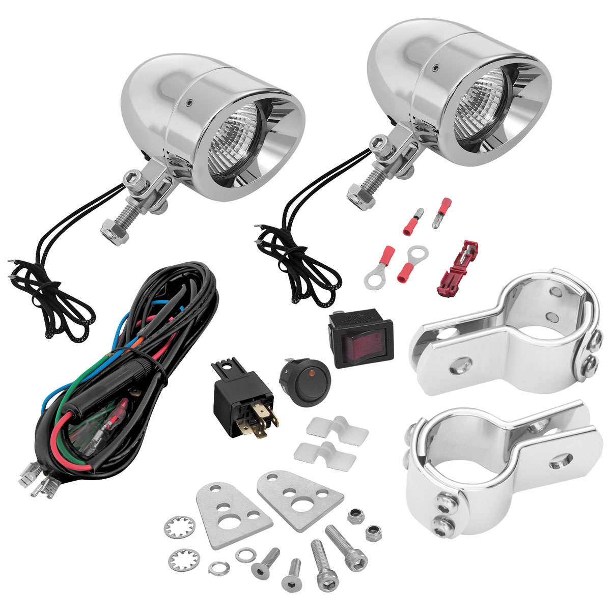 Show Chrome Accessories Universal Mini Halogen Driving Lights