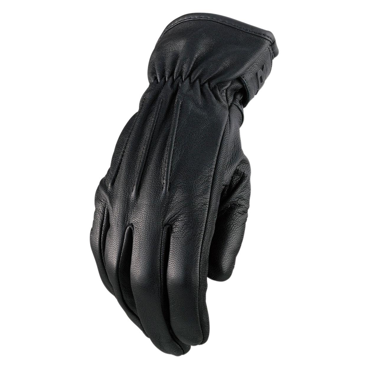 Z1R Men's Reaper II Black Leather Gloves