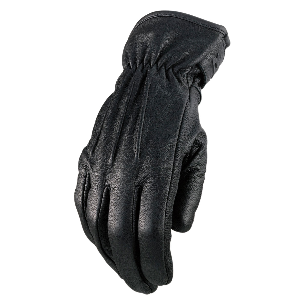 Z1R Men's Reaper II Black Leather Gloves