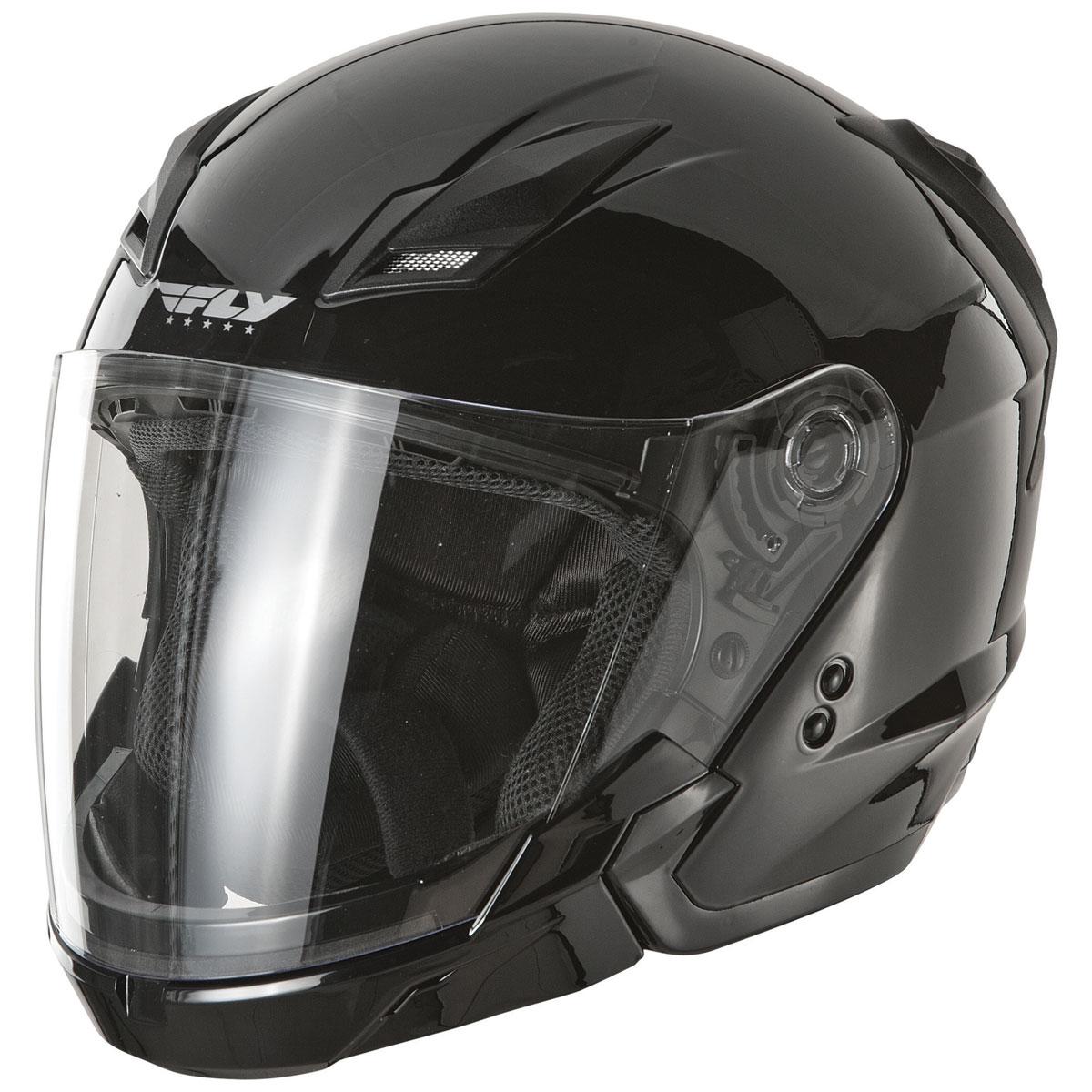 FLY Racing Street Tourist Gloss Black Modular Helmet