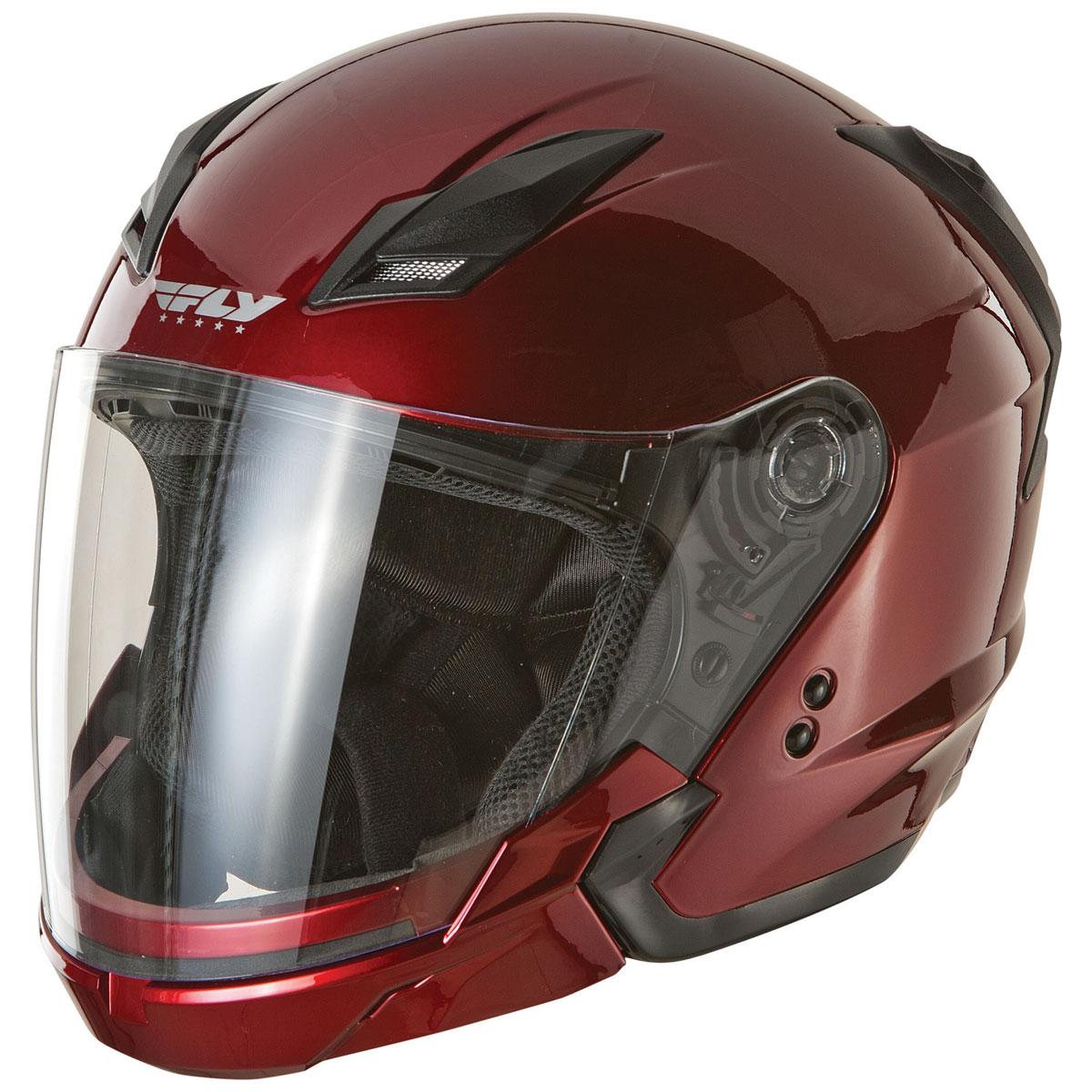 FLY Racing Street Tourist Candy Red Modular Helmet