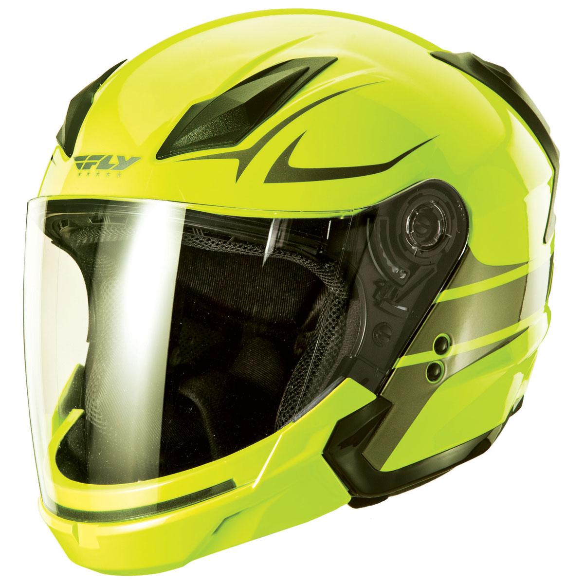 FLY Racing Street Tourist Vista Hiviz/Gunmetal Modular Helmet
