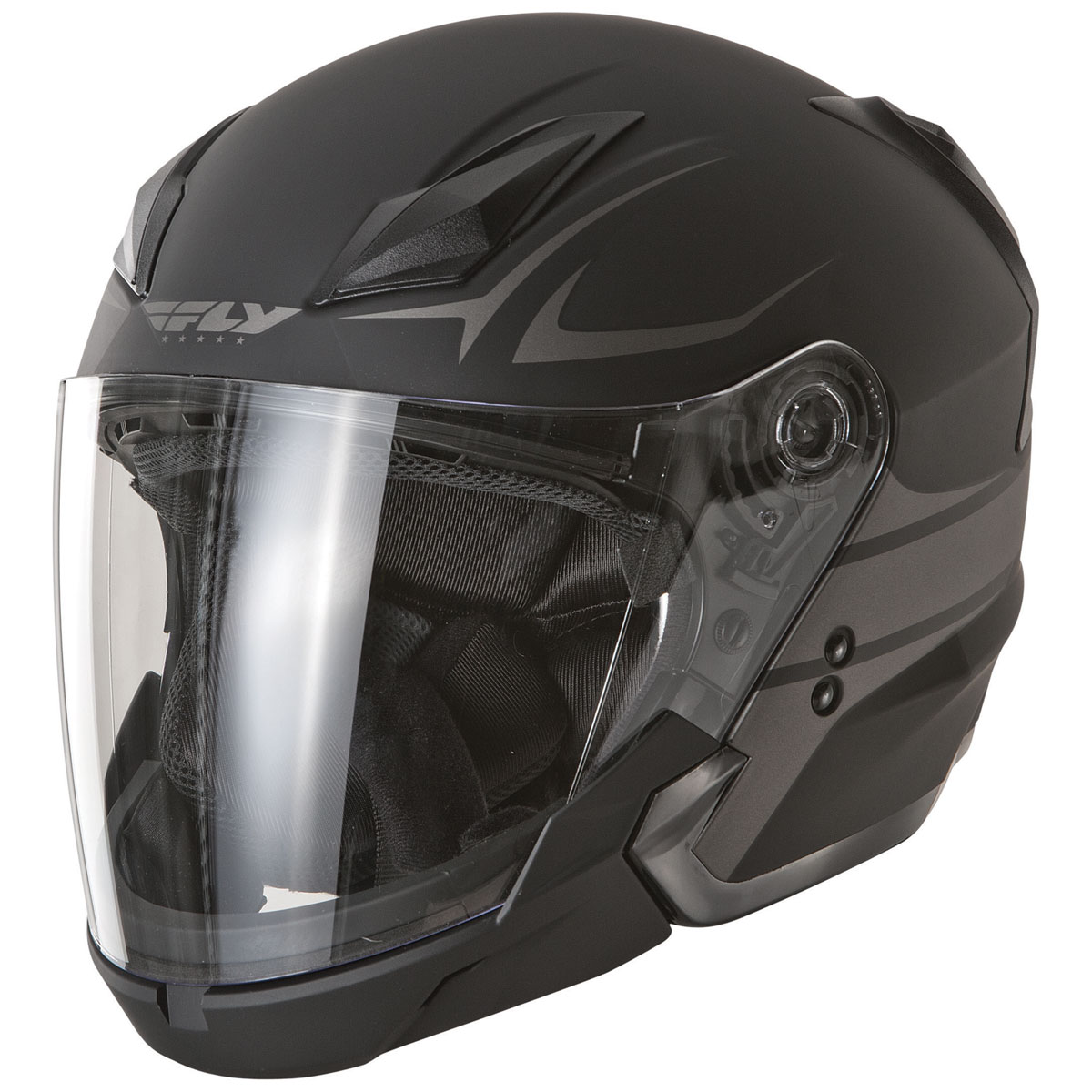 FLY Racing Street Tourist Vista Black/Silver Modular Helmet