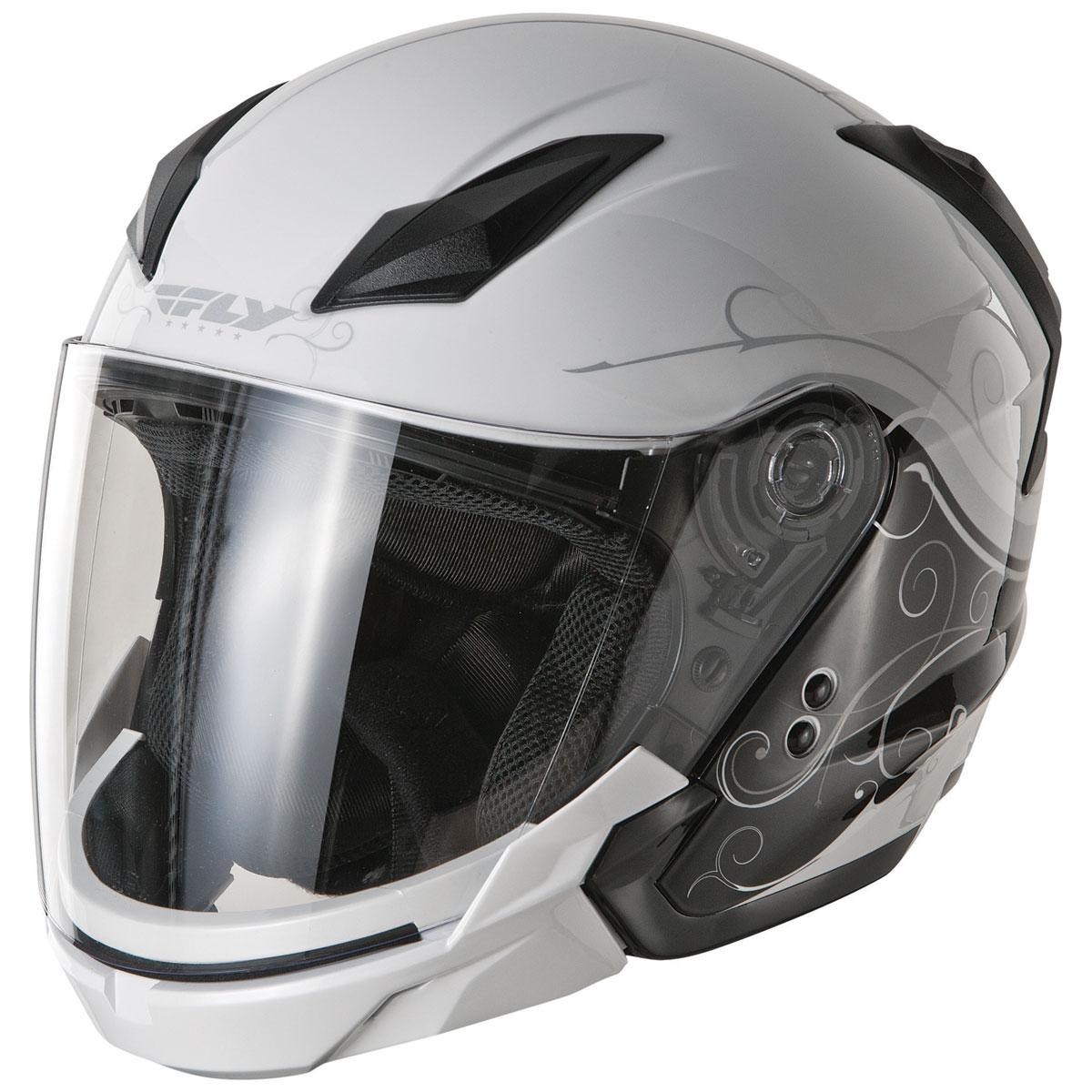 FLY Racing Street Tourist Cirrus Silver Modular Helmet