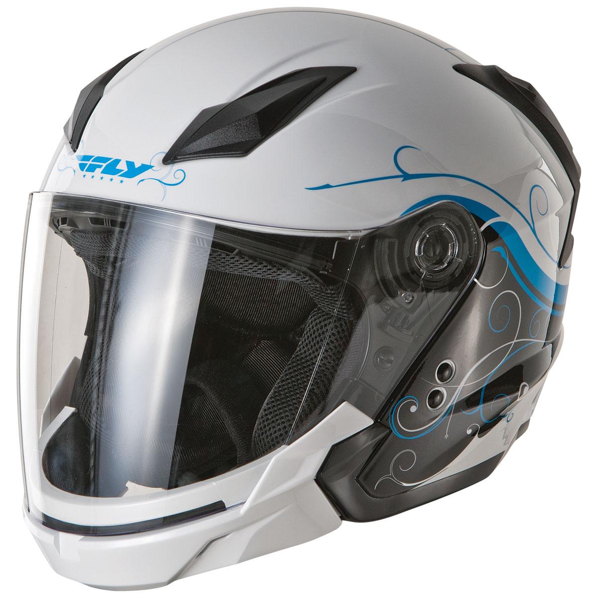 FLY Racing Street Tourist Cirrus Blue Modular Helmet