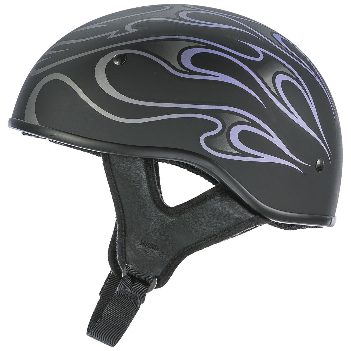 FLY Racing Street .357 Purple Flame Half Helmet