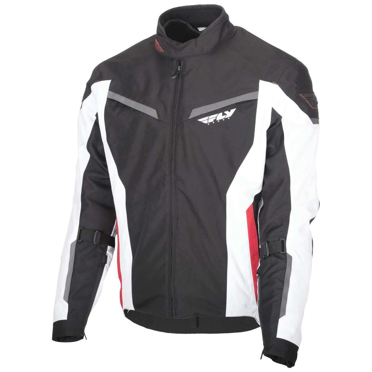 FLY Racing Street Men's Strata Black/Red/White 3 in 1 Textile Jacket
