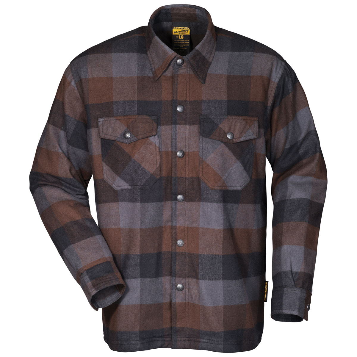 Scorpion EXO Men's Covert Black/Brown/Gray Flannel Shirt