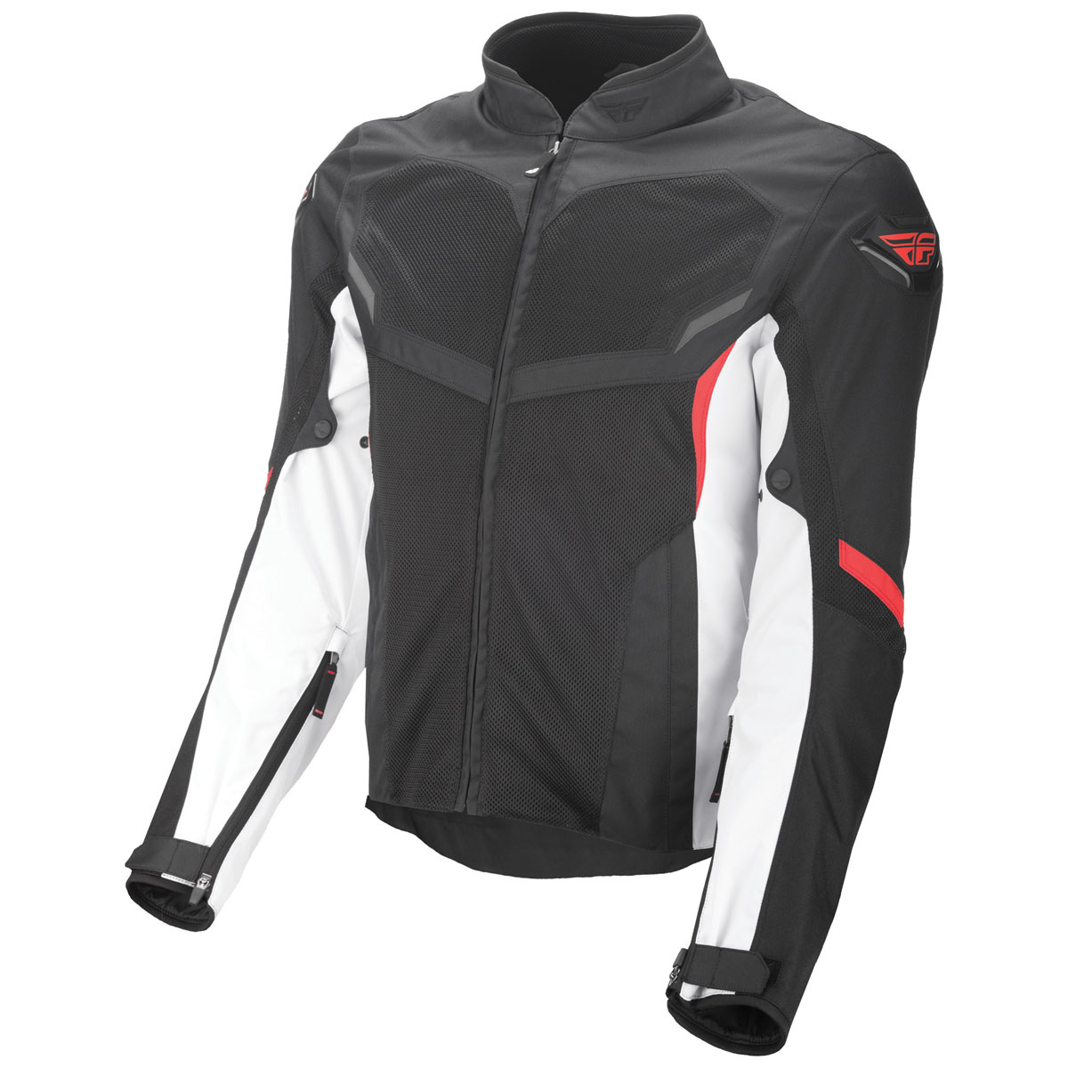 FLY Racing Street Men's Air Raid Black/White/Red Mesh Jacket