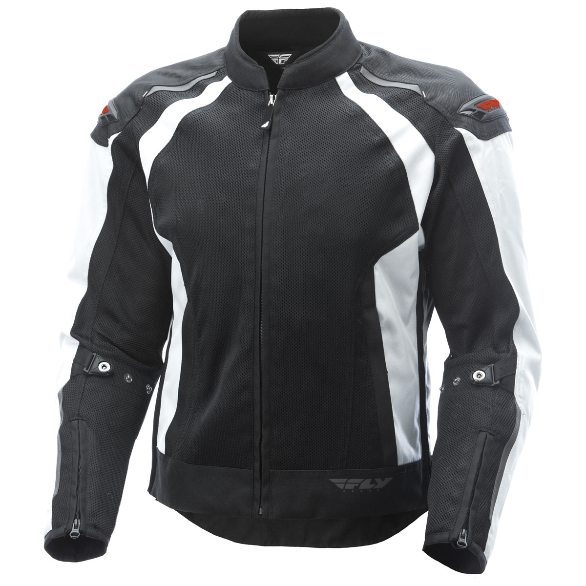 FLY Racing Street Men's Cool Pro Black/White Mesh Jacket