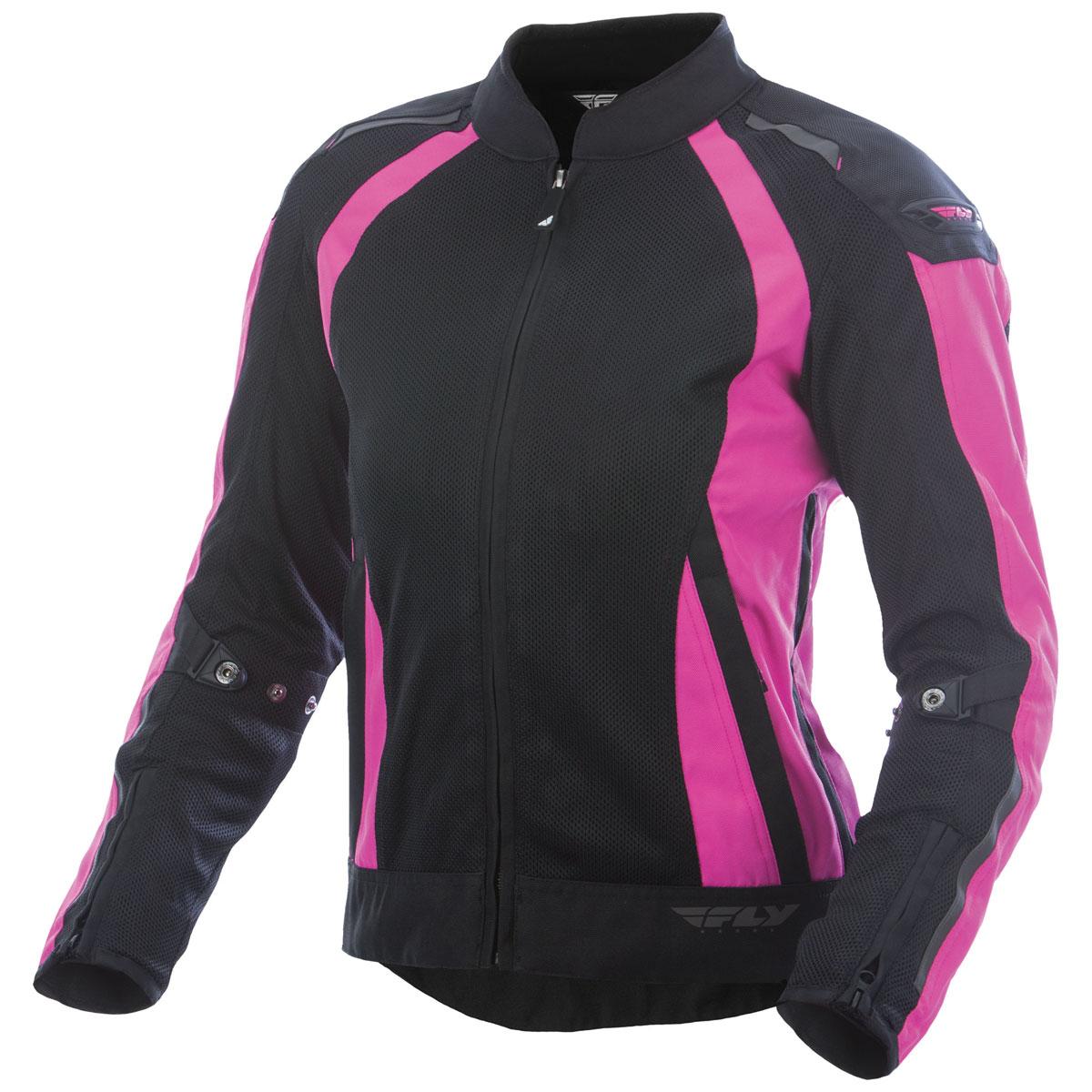 FLY Racing Street Women's Cool Pro Black/Pink Mesh Jacket