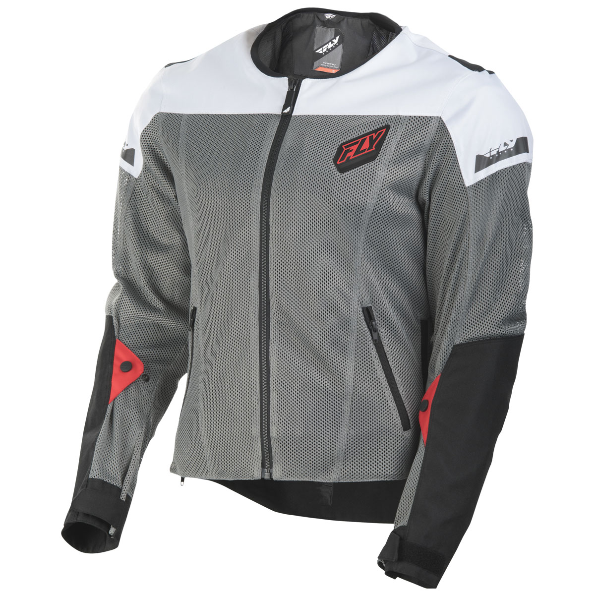 FLY Racing Street Men's Flux Air Black/White Mesh Jacket