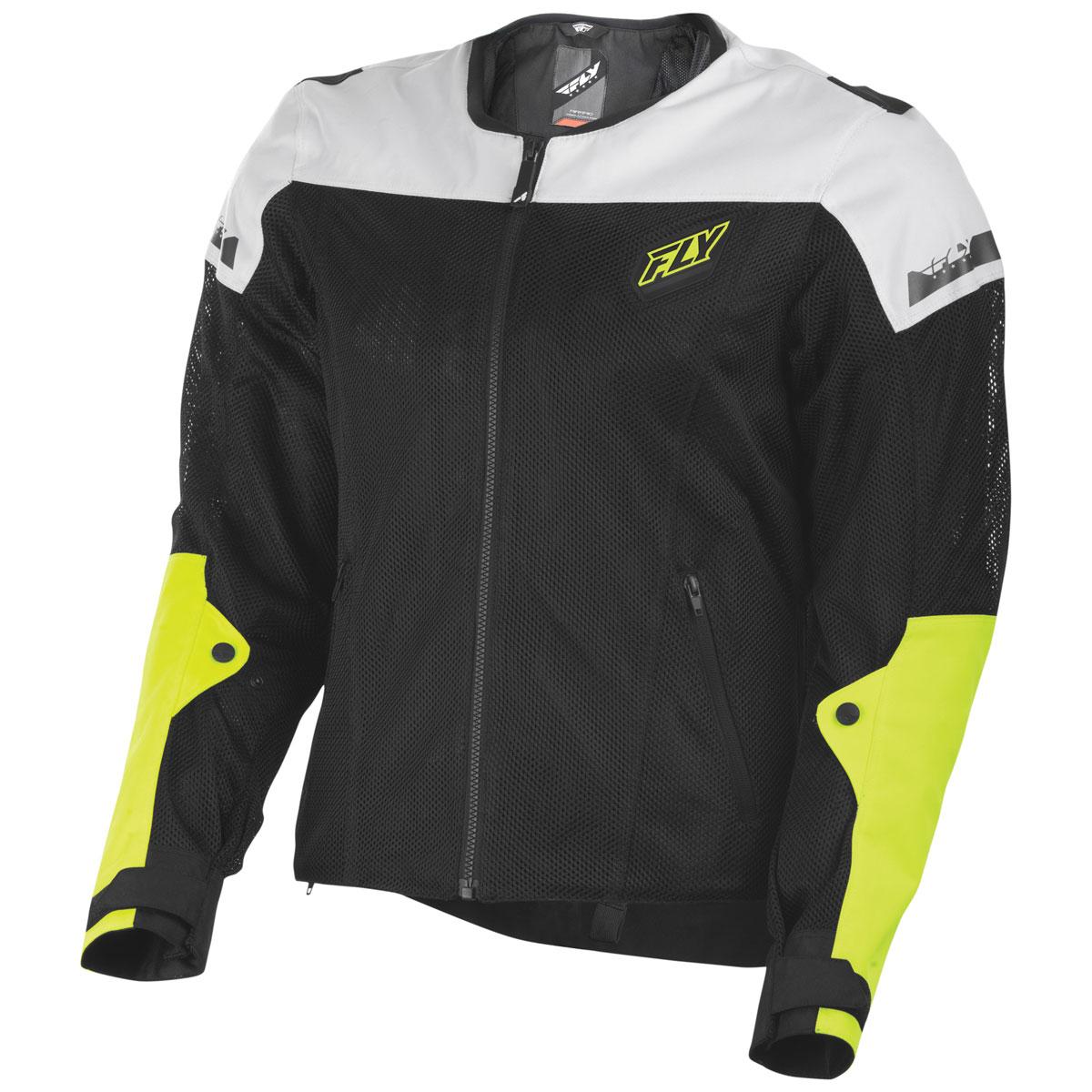 FLY Racing Street Men's Flux Air Black/Hi-Viz Mesh Jacket