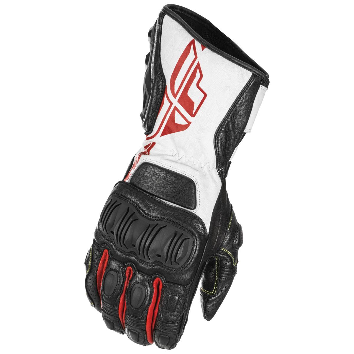 FLY Racing Street Men's FL-2 Black/White/Red Leather Gloves