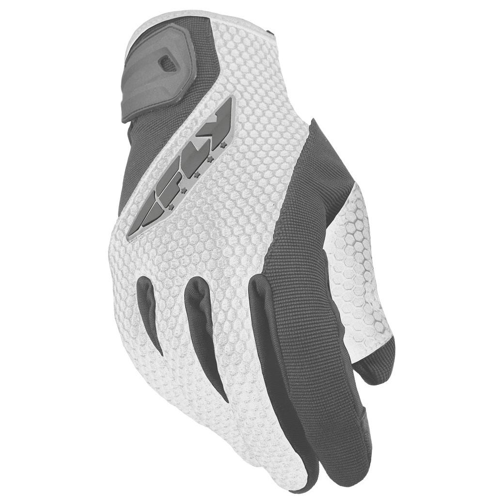 FLY Racing Street Women's CoolPro II Gray Mesh Gloves