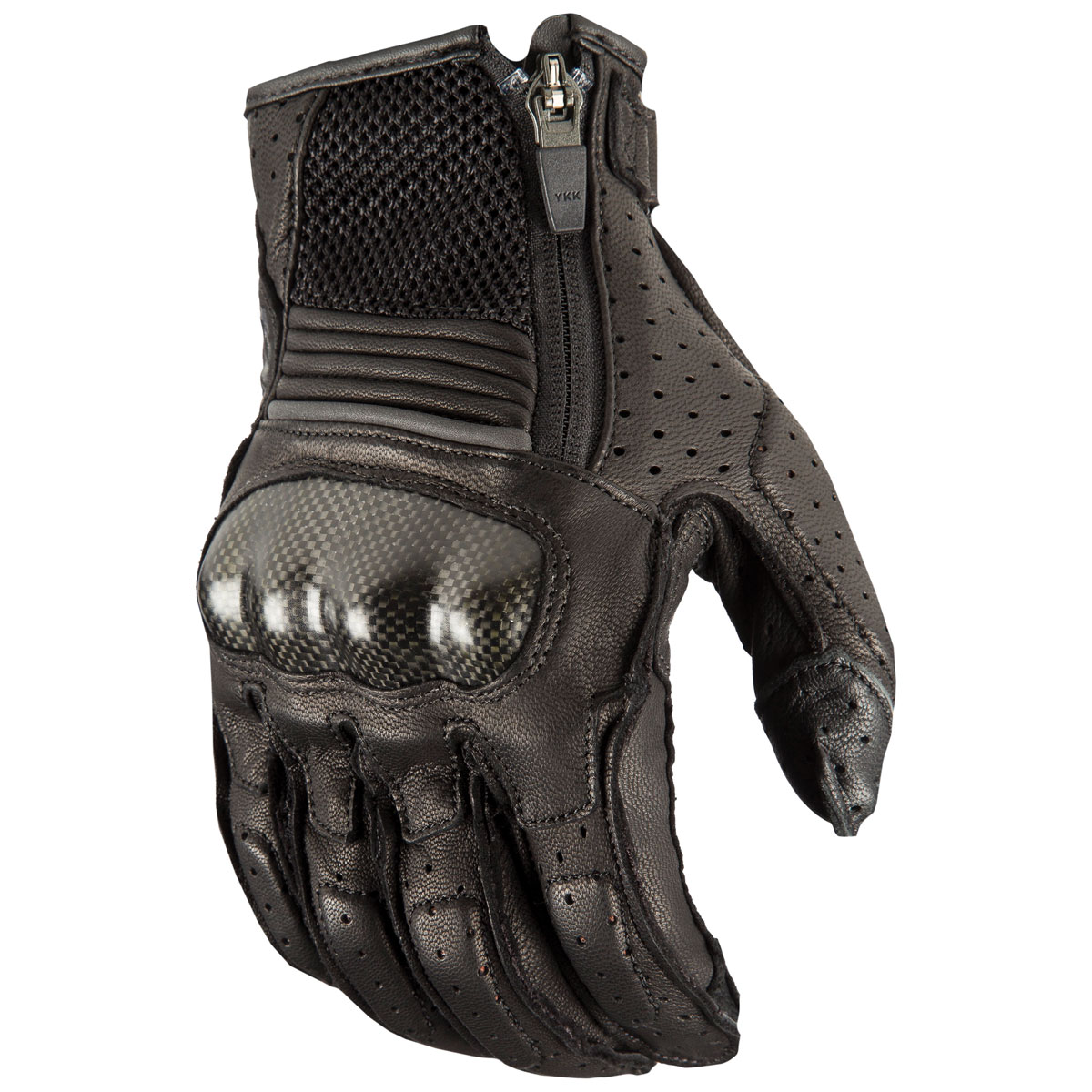 Klim Men's Induction Black Perforated Leather Gloves