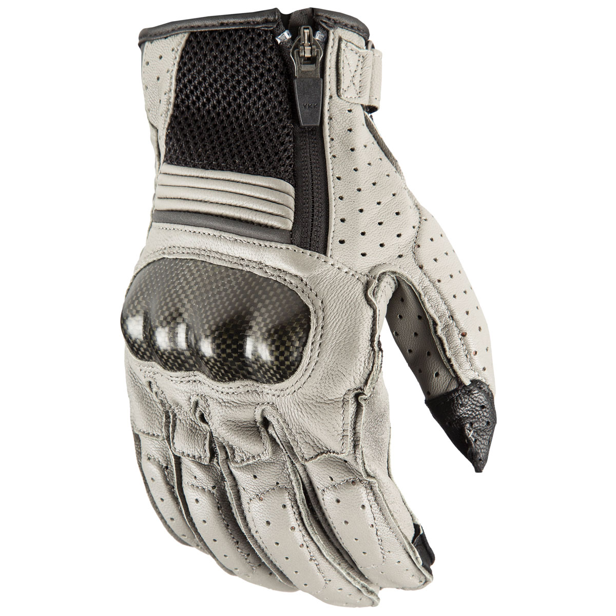 Klim Men's Induction Gray Perforated Leather Gloves