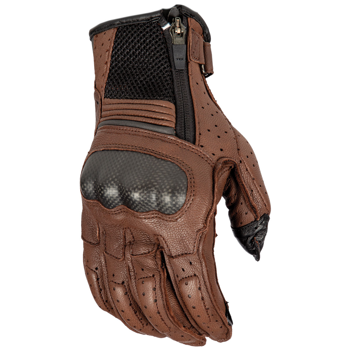 Klim Men's Induction Brown Perforated Leather Gloves