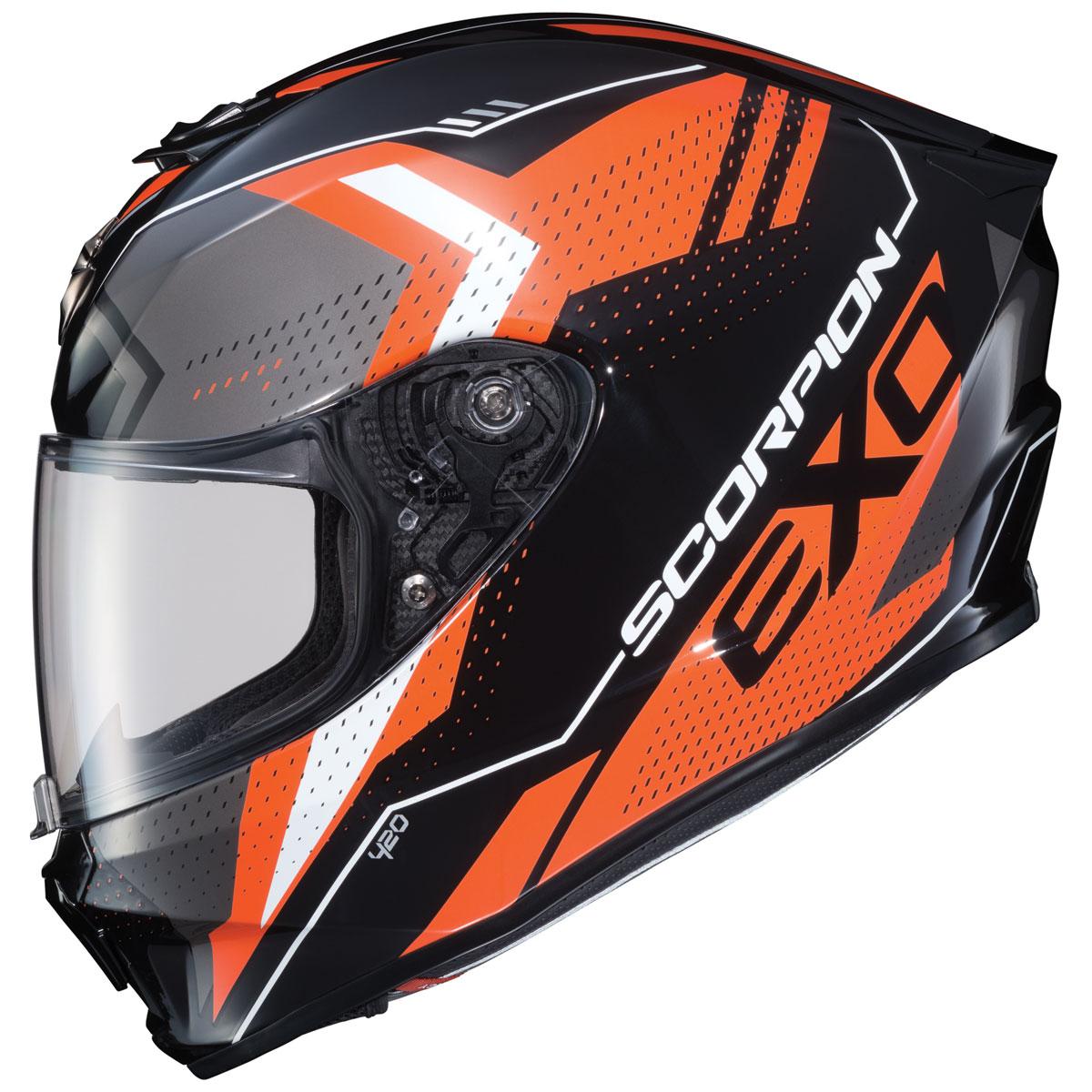 Scorpion EXO EXO-R420 Seismic Orange Full Face Helmet