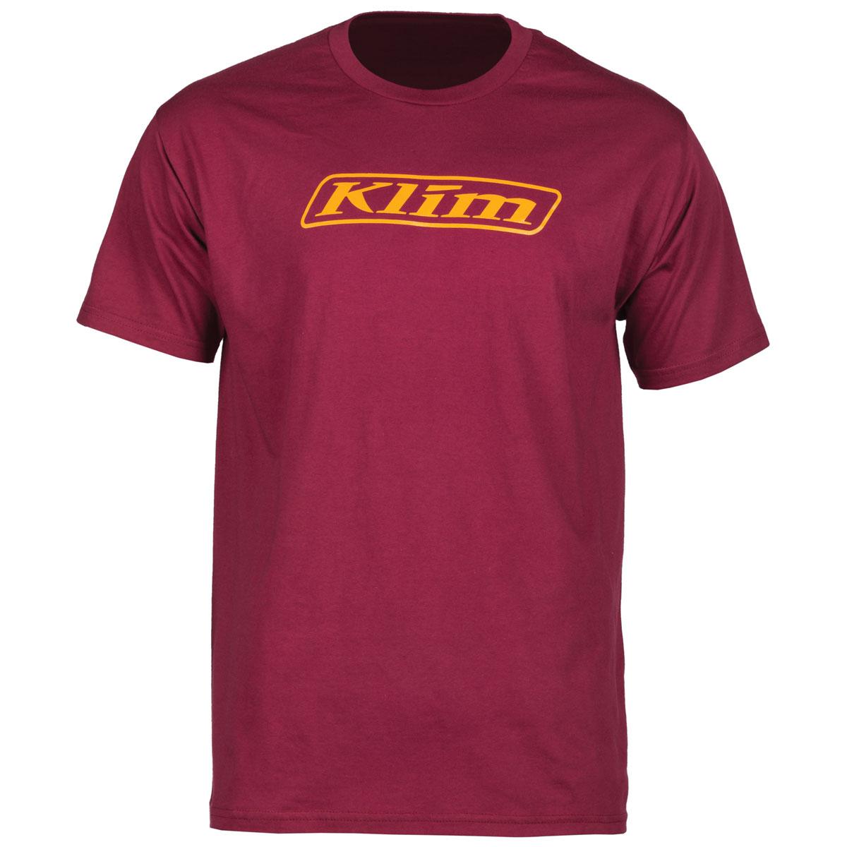 Klim Men's Word Burgundy T-Shirt