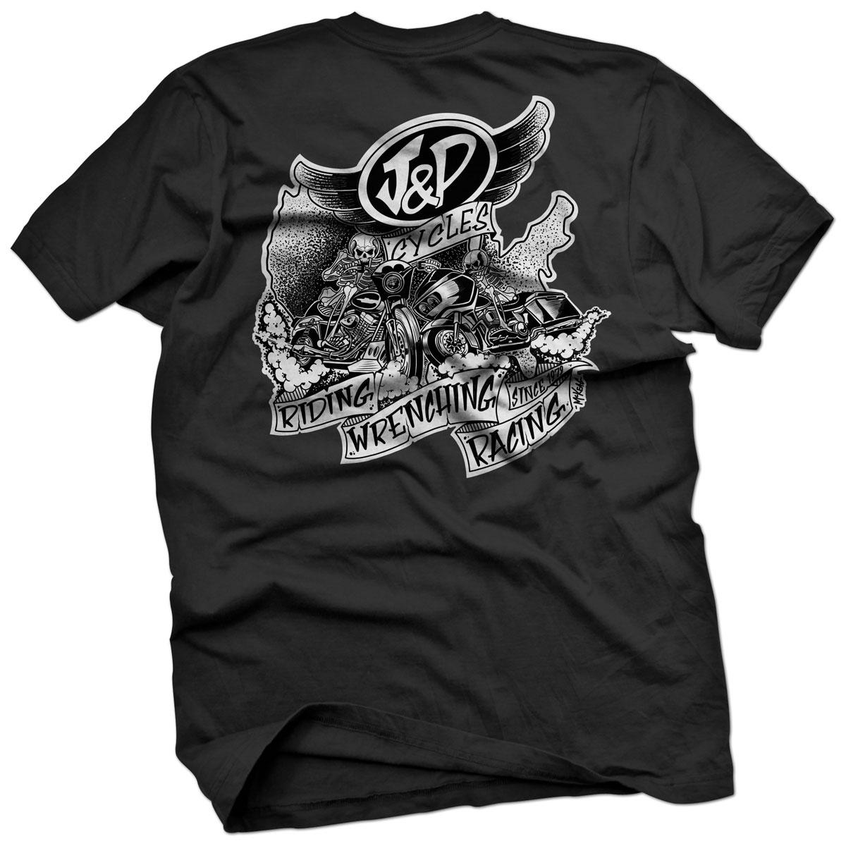J&P Cycles Exclusive Darren McKeag Black T-Shirt