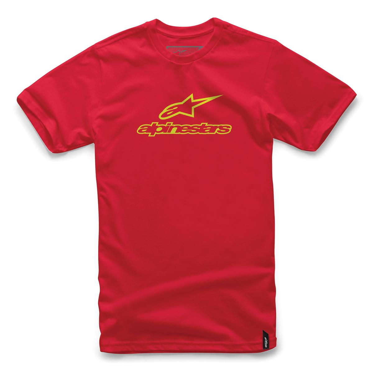 Alpinestars Men's Always Red/Hi-Viz T-Shirt