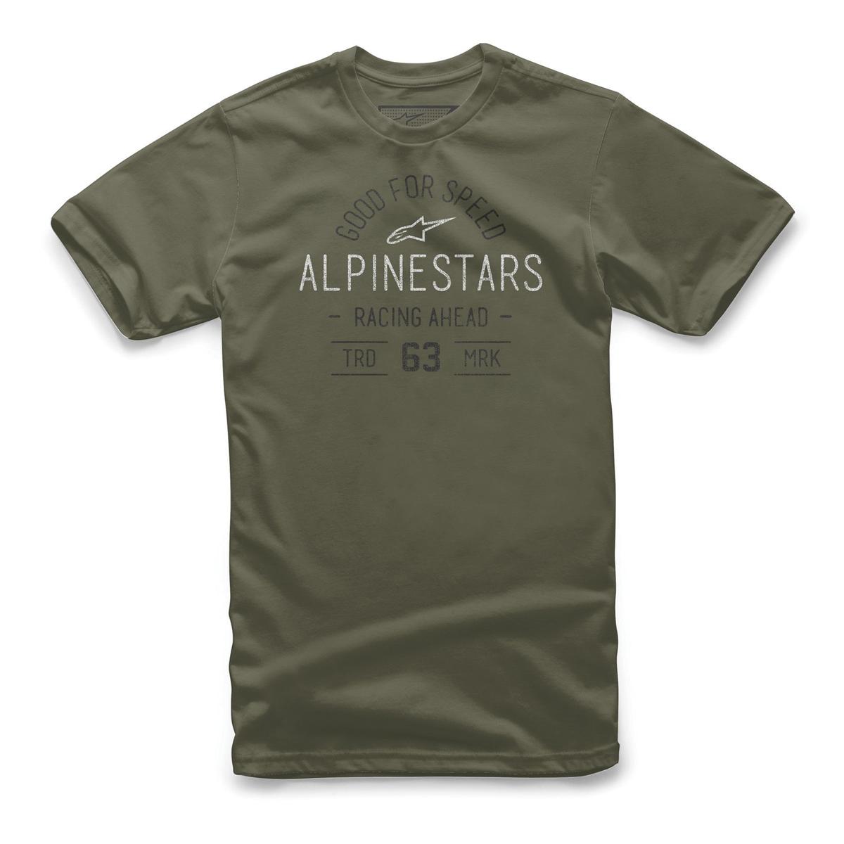 Alpinestars Mens Vintage T-Shirt Regular Fit Short Sleeve