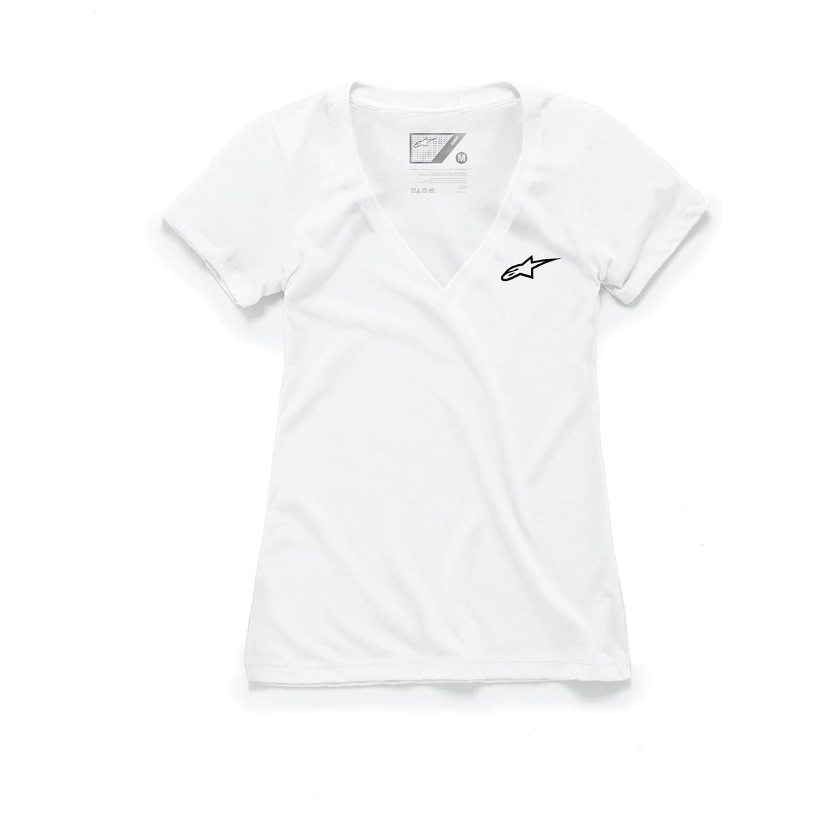 Alpinestars Women's Ageless White V-Neck T-Shirt