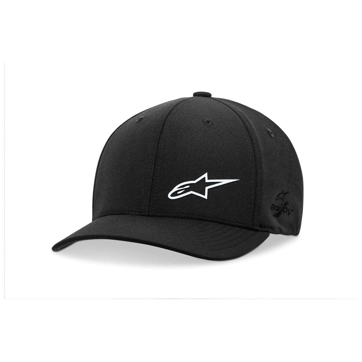 Alpinestars Asym Sonic Tech Black/White Curved Bill Hat