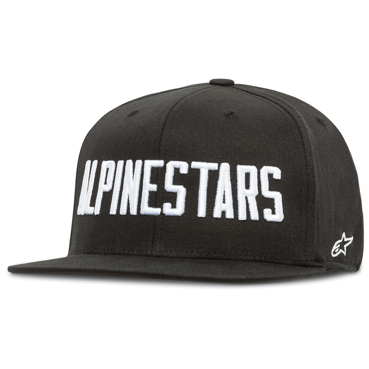 Alpinestars Word Black/White Flat Bill Hat
