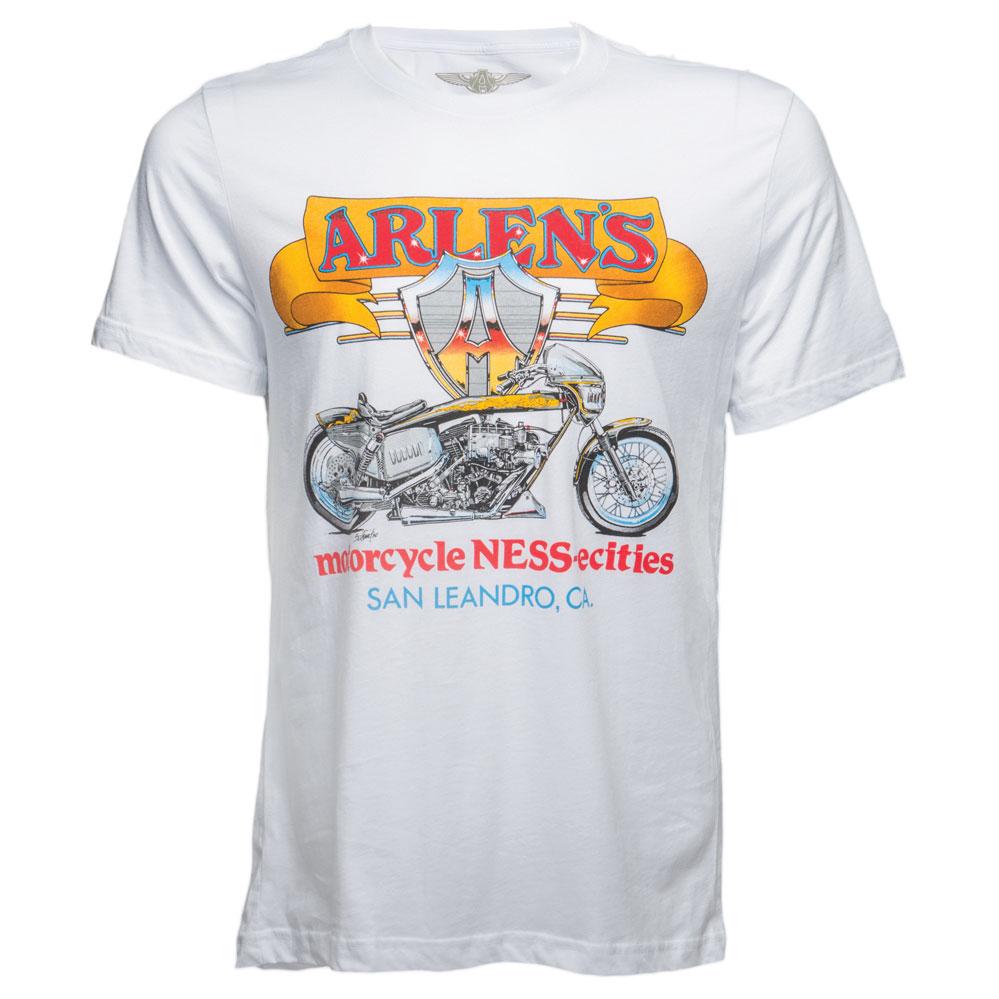 Arlen Ness Men's Blower Bike White T-Shirt