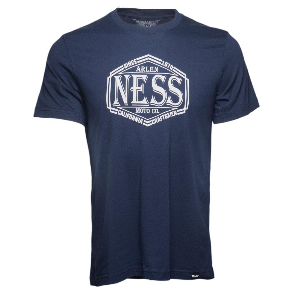 Arlen Ness Men's Ness Moto Blue T-Shirt
