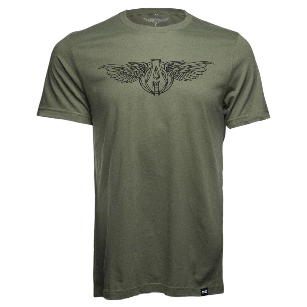 Arlen Ness Men's Sporty Wings Green T-Shirt