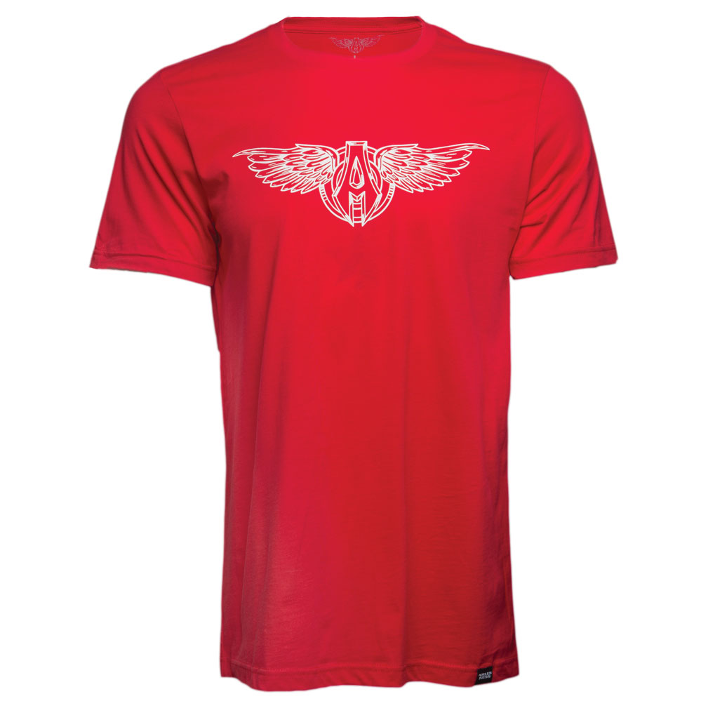 Arlen Ness Men's Sporty Wings Red T-Shirt