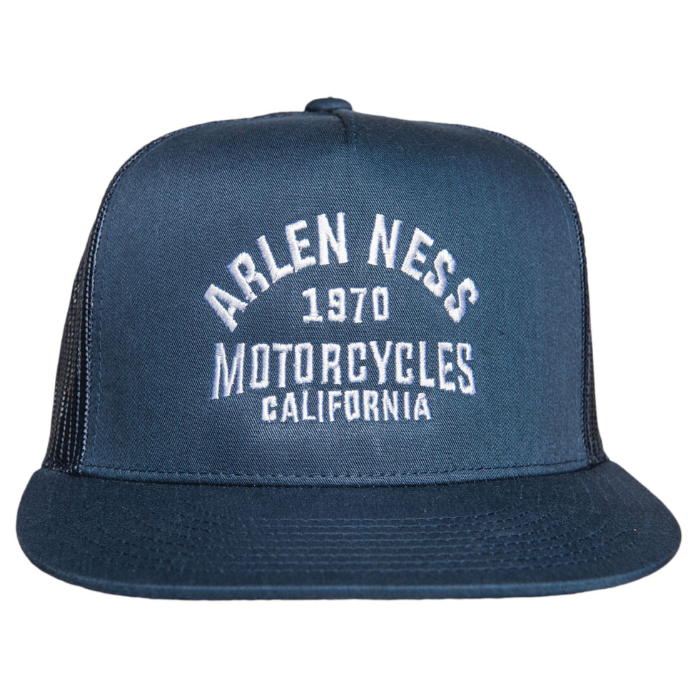 Arlen Ness The Block Navy Blue Trucker Hat