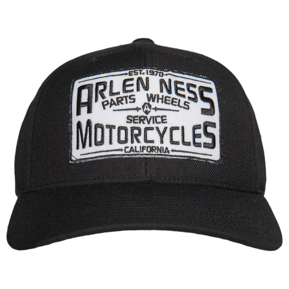 Arlen Ness Parts & Service Curved Bill Black Hat