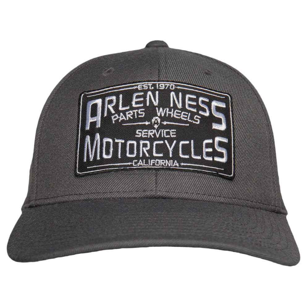 Arlen Ness Parts & Service Curved Bill Gray Hat