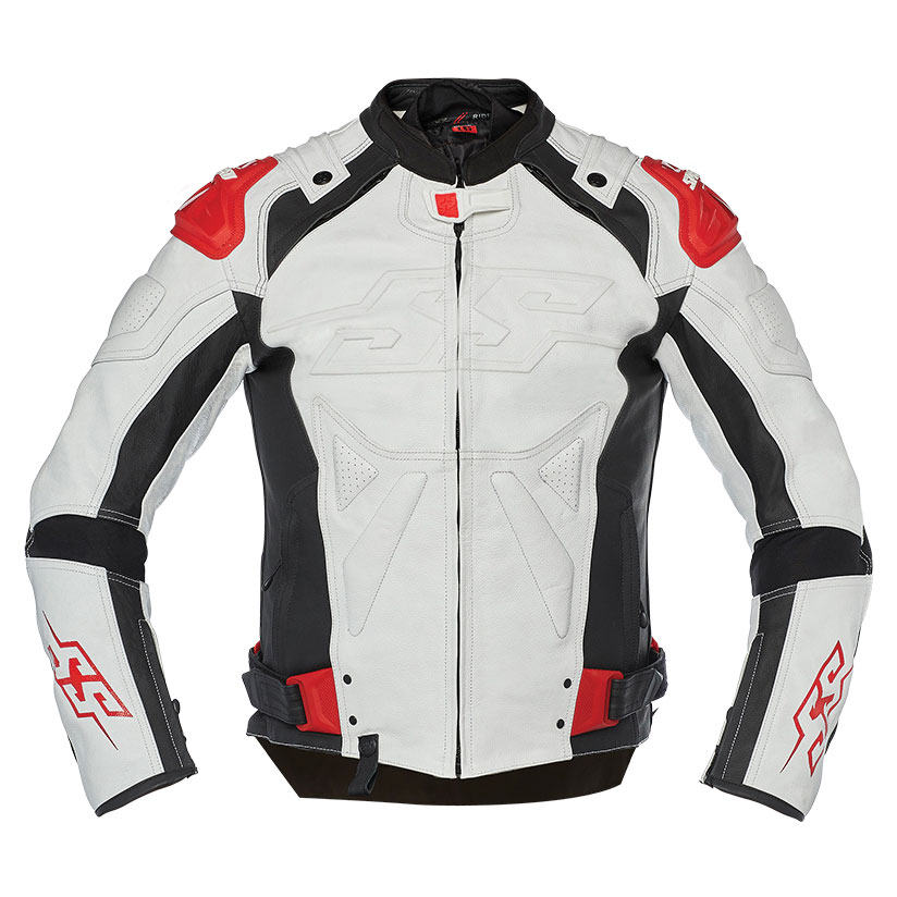 Speed and Strength Men's Revolt White/Black/Red Leather Jacket