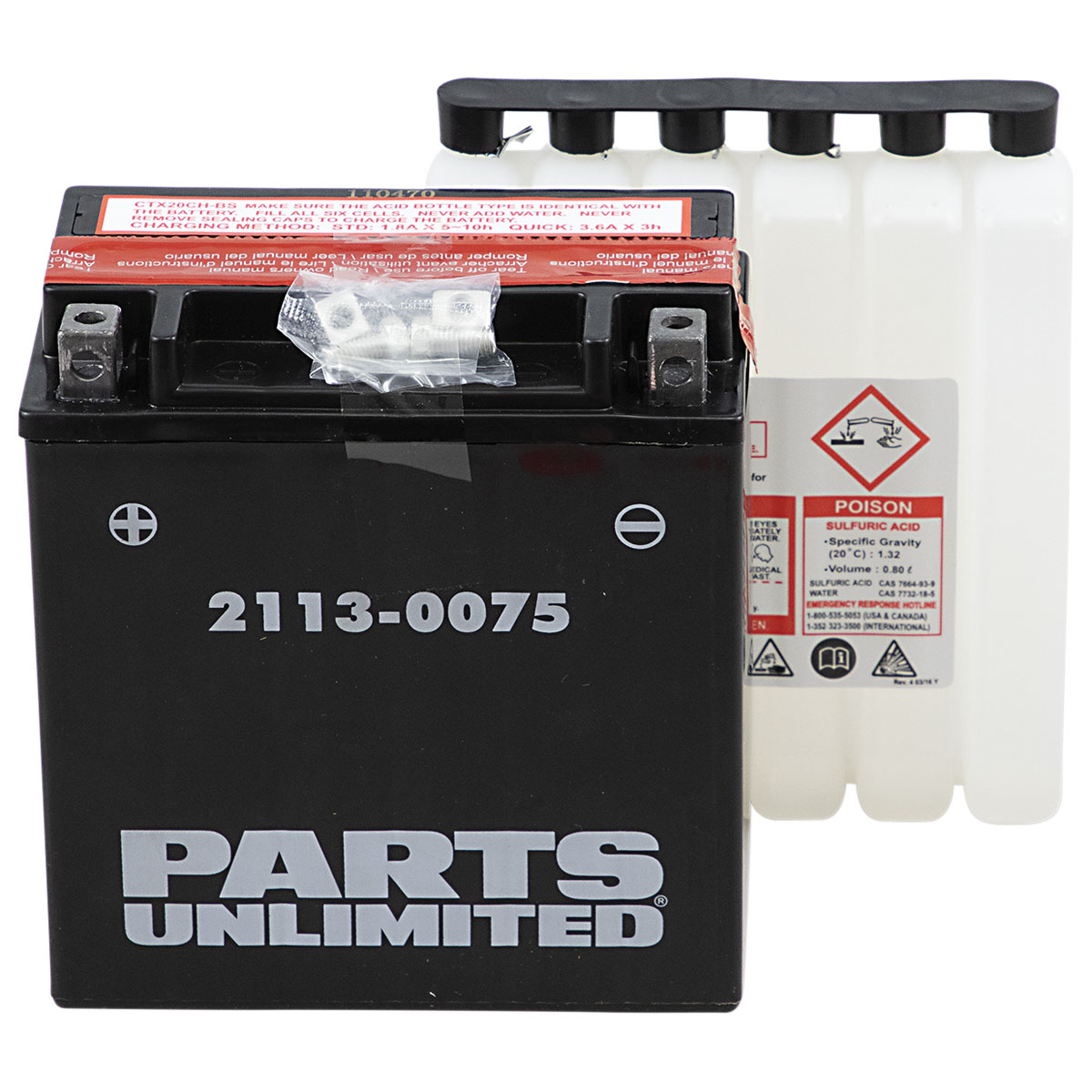 Parts Unlimited High Performance AGM Battery